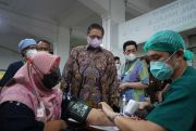 Kunjungi Vaksinasi Serviam, Ingatkan Masyarakat Tetap Patuh Prokes