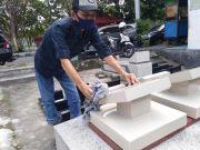 Ramadan Ditengah Pandemi Korona, Perajin Batu Nisan Sepi Order