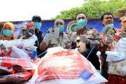 BBKP Surabaya Bakar Puluhan Kilogram Benih Ilegal di Kediri
