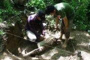 Ekskavasi Gading Purba Berusia Ratusan Ribu Tahun di Nganjuk