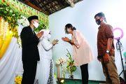 Pengantin Banaran, Kertosono Gelar Resepsi 'Ala' Covid