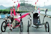 Tempuh 33 Km dengan Sepeda Telentang