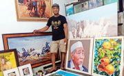 Di-PHK saat Pandemi, Wahyudi Purniawan Berkarya lewat Lukisan