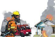 Lupa Matikan Kompor Lalu Ditinggal Pengajian, Rumah Ini Ludes Terbakar