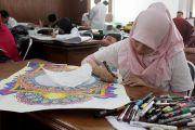 Peserta Tampilkan Karya Kaligrafi Terbaik di MTQ Jepara