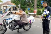 Melihati Aksi Kapolres Grobogan Latih Pengawalan VVIP Naik Moge