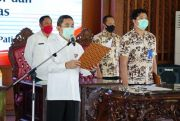 Lantik Pejabat, Bupati Pati Haryanto Minta Memasyarakatkan Masker