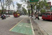 DPUPR Grobogan Bongkar Median Jalan Simpang Lima untuk Jalur Sepeda
