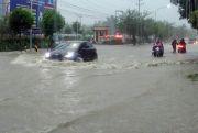 Diguyur Hujan Tiga Jam, Rembang Kota Dikepung Banjir