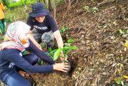 DLH Blora Bersama Warga Tanam Ratusan Pohon di Pinggir Kali Grojogan