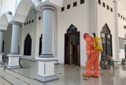 Hingga Kini, Masjid di Pati Belum Disemprot Disinfektan