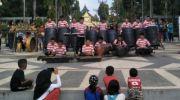 Musik Tradisional Tong-Tong SMPIT Al-Hidayah Hibur Pengunjung CFD JPRM