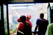 Gudang Penyimpanan Barang Terbakar Diduga akibat Korsleting Listrik