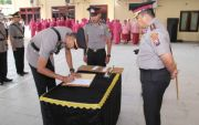 Hari Pertama Menjabat, Kasatlantas Polres Sampang Tilang 65 Pelanggar