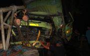 Alami Selip, Dump Truck Sasar Pohon, Sopir Tewas, Kernet Luka Berat