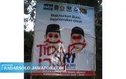 Dua Hari Dipasang, Baliho One - Fajri Dicorat-coret
