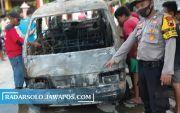 Sedot BBM dari Tangki, Tiba-Tiba Muncul Api Bakar Mobil Carry di Buran