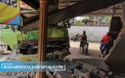 Diduga Rem Blong, Truk Hino Tabrak Warung di Mojosongo