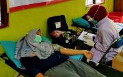 Warga Antusias Ikuti  Donor Darah Alfamart