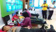 Bantu Korban Laka, Satlantas Polres Gresik Gelar Donor Darah