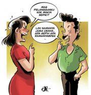 Jualan Bangkrut gara-gara Suami Culas