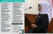 Tutup Tahun 20 Pejabat Dimutasi, Khofifah: Jabatan Kosong Open Bidding
