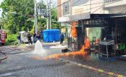 Mesin Korslet, Pertamini di Perum Mandiri Kebomas Terbakar