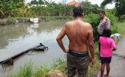 Konsentrasi Hilang Karena Sopir Sibuk Main HP Pikap Nyemplung Sungai