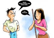Suami Temperamental Cinta Istri Pun Mental