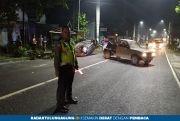 Kecelakaan Tunggal, Diduga Ngantuk, Honda Civic Terbalik