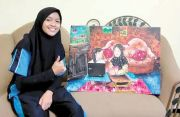 Meski Miliki Keterbatasan, Anita Suharti Raih Juara Harapan I Melukis